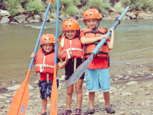 Family whitewater rafting trips get kids outside and active!