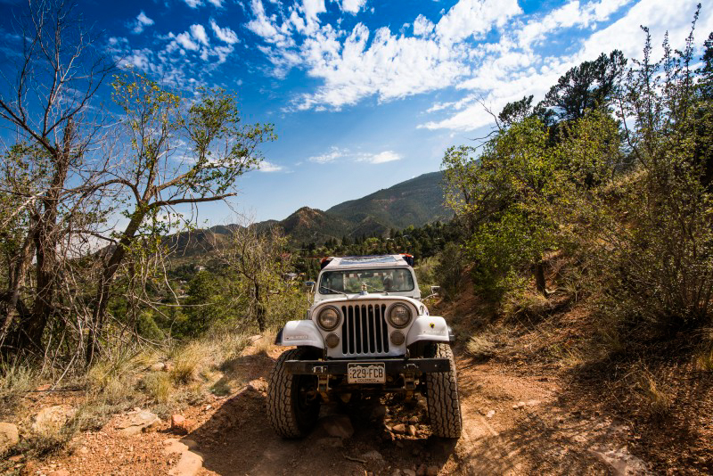 4x4 Jeep ride to ATV launch point